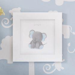 Quadro Amiguinho Elefante Azul 20cm