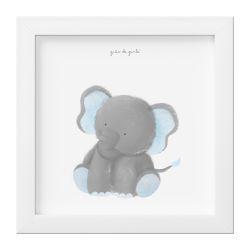 Quadro Amiguinho Elefante Azul