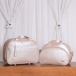 Conjunto de Bolsas Maternidade Master Luxo Pérola