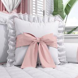 Almofada Laço e Rendinha Princesa Clássica 38cm