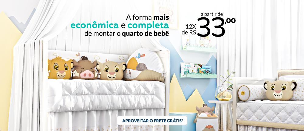 A forma mais econômica e completa de montar o quarto de bebê, a partir de 12x de R$ 33,00