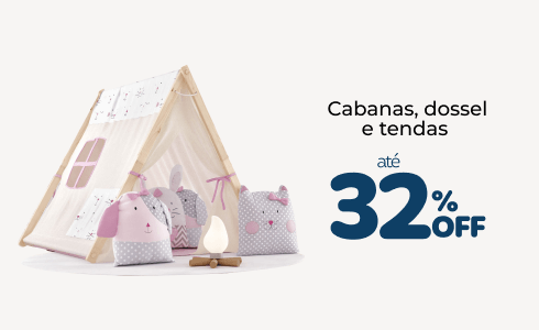 Cabanas, dossel e tendas até 32% off