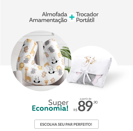 Almofada Amamentação + Trocador Portátil