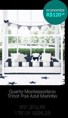 Quarto Montessoriano Tricot Poá Rosa