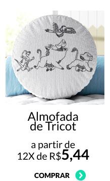 almofada de tricot
