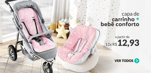 Capa de carrinho + bebê conforto a partir de 12x de R$12,93