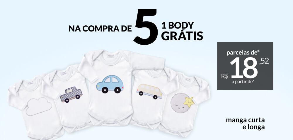 Novos bodies Grão de Gente: a partir de R$38,99