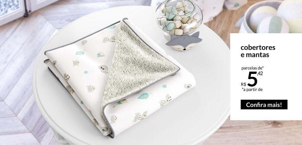 Mantas e cobertores - parcelas a partir de 5,55