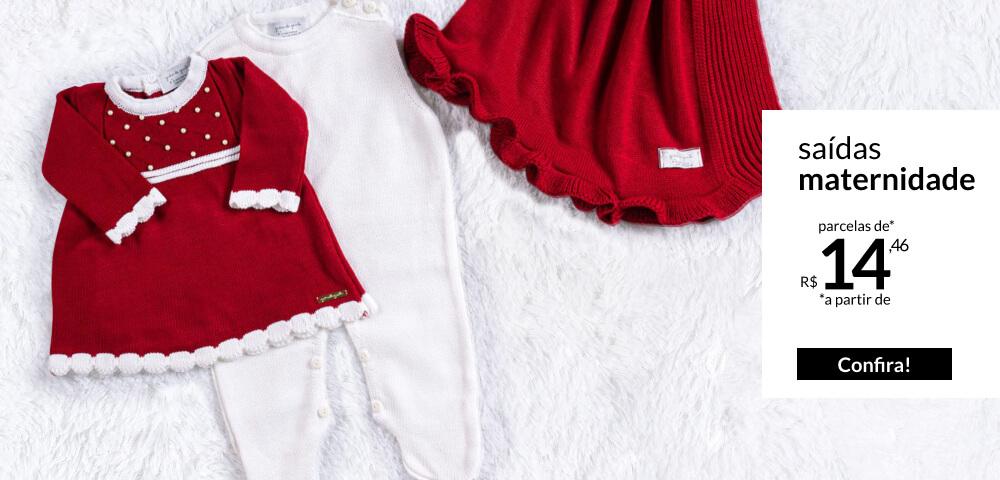 Saídas maternidade tricot - parcelas a partir de 12,79