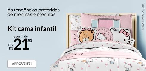 Kit cama infantil a partir de 12x de R$21,81