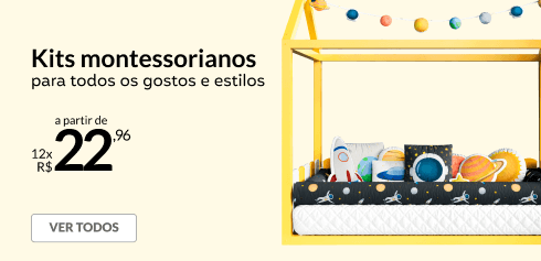 Kits montessorianos a partir de 12x de R$22,96