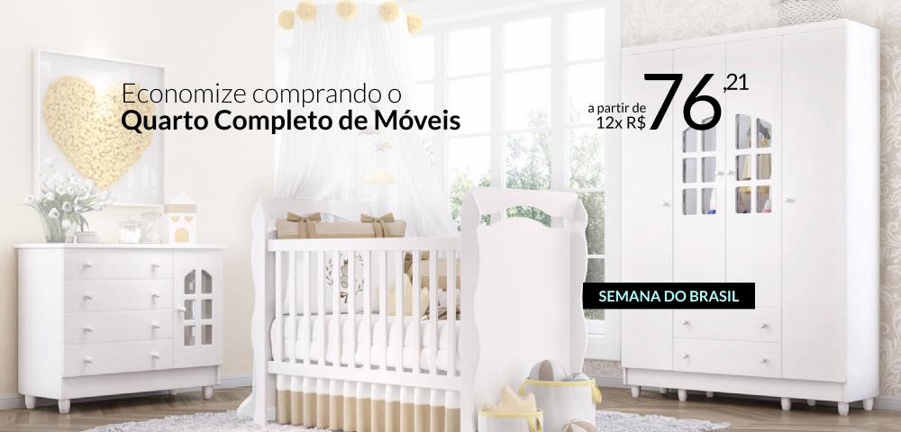 Economize comprando o Quarto completo Móveis - Semana do Brasil Grão de Gente