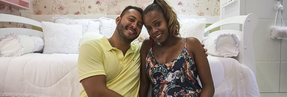Roberta Rodrigues e Guilherme Guimarães: o quartinho da Linda Flor reflete todo o amor que existe!