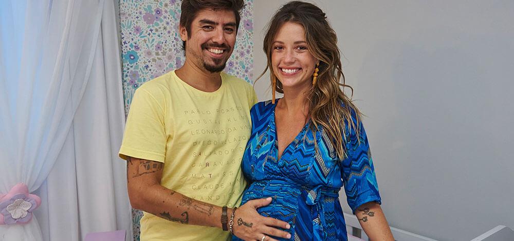 Juliana Didone e Flávio Rossi estão apaixonados pelo quarto da Liz, inspirado nos Jardins de Monet
