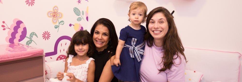 Nívea Stelmann presenteia Clara, sua sobrinha, com um lindo quarto montessoriano