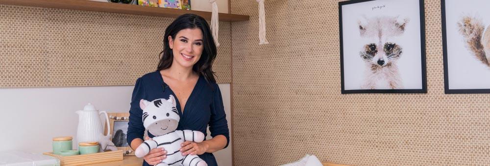 Renata Abravanel escolhe Grão de Gente para decorar quarto de André com enxoval Tricot Luxo Branco