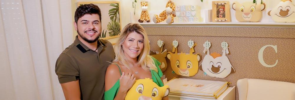 Cristiano e Paula Vaccari mostram Quarto de Bebê Amiguinhos O Rei Leão do pequeno Cristiano