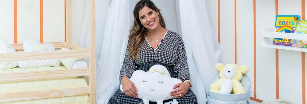 Camilla Camargo escolhe Nuvem de Algodão Amarelo para quarto do Joaquim