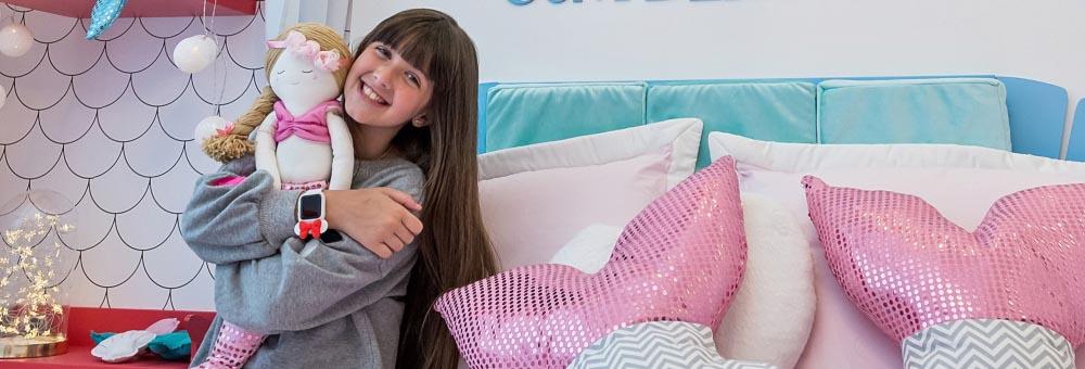 Giovanna Alparone escolhe decoração da Grão de Gente para seu quarto Sereia Aquática