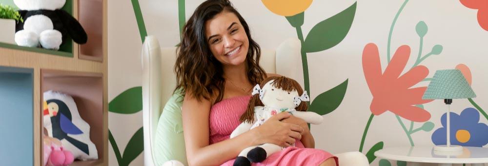 Talita Younan revela os detalhes do lúdico quarto de Isabel